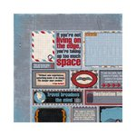 Bo Bunny - Detour Collection - 12 x 12 Double Sided Paper - Quotes