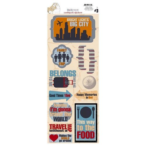 Bo Bunny - Detour Collection - Cardstock Stickers - Without A Map