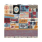 Bo Bunny - Detour Collection - 12 x 12 Cardstock Stickers - Combo