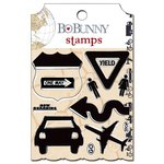 Bo Bunny - Detour Collection - Clear Acrylic Stamps