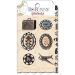 Bo Bunny - Detour Collection - Metal Embellishments - Trinkets