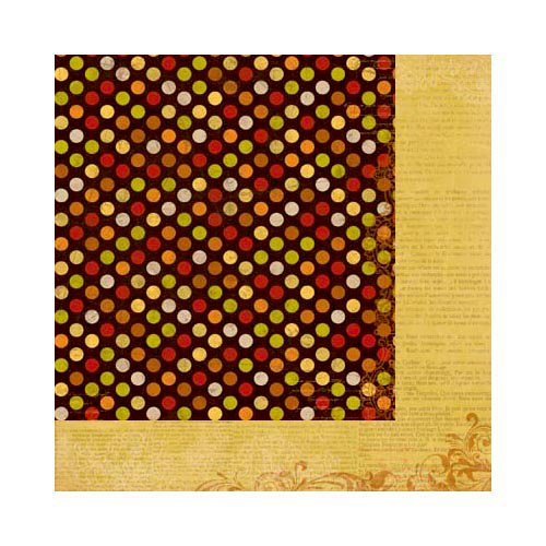 Bo Bunny - Apple Cider Collection - 12 x 12 Double Sided Paper - Dot