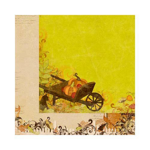 BoBunny - Apple Cider Collection - 12 x 12 Double Sided Paper - Harvest