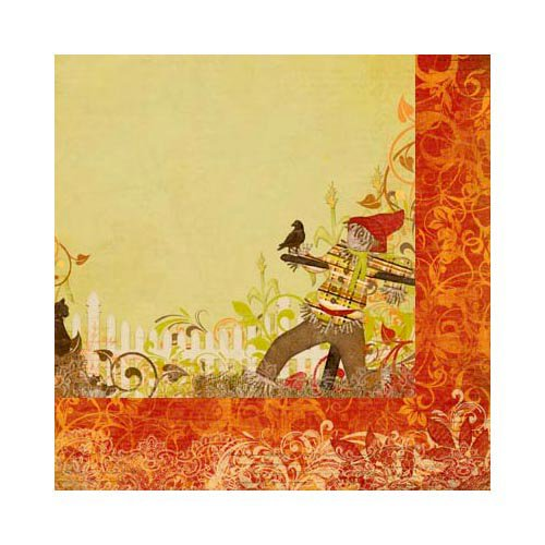 Bo Bunny - Apple Cider Collection - 12 x 12 Double Sided Paper - Hickory