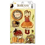 Bo Bunny - Apple Cider Collection - 3 Dimensional Stickers with Glitter and Jewel Accents