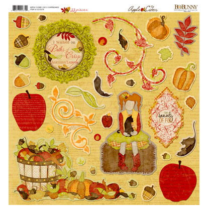 BoBunny - Apple Cider Collection - 12 x 12 Chipboard Stickers