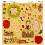Bo Bunny - Apple Cider Collection - 12 x 12 Chipboard Stickers