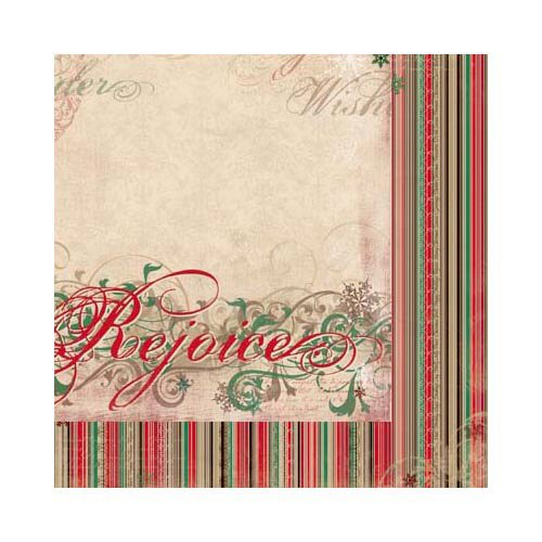 Bo Bunny - Rejoice Collection - Christmas - 12 x 12 Double Sided Paper - Rejoice