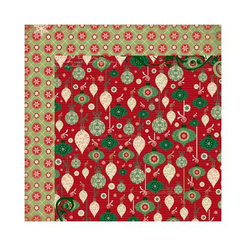 Bo Bunny - Rejoice Collection - Christmas - 12 x 12 Double Sided Paper - Adorned