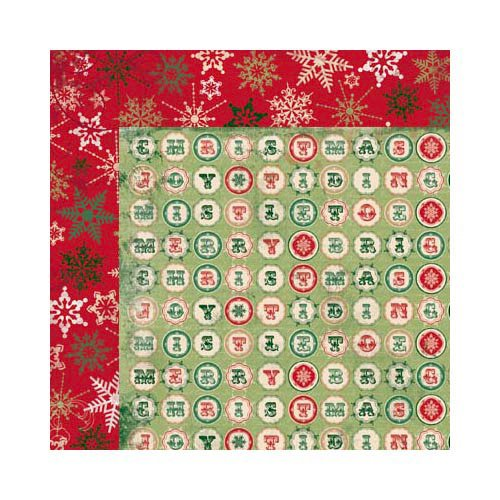 Bo Bunny - Rejoice Collection - Christmas - 12 x 12 Double Sided Paper - Crossword