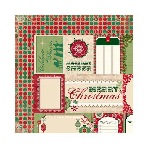 Bo Bunny Press - Rejoice Collection - Christmas - 12 x 12 Double Sided Paper - Cut Outs