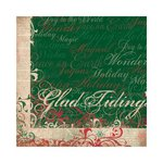 Bo Bunny - Rejoice Collection - Christmas - 12 x 12 Double Sided Paper - Glad Tidings