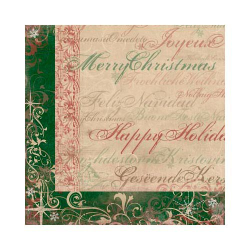 Bo Bunny - Rejoice Collection - Christmas - 12 x 12 Double Sided Paper - Jubilee