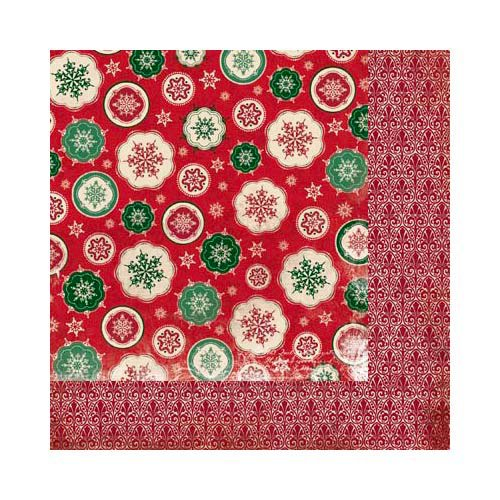 Bo Bunny - Rejoice Collection - Christmas - 12 x 12 Double Sided Paper - Snowfall