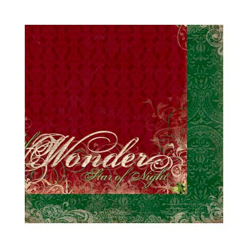 Bo Bunny - Rejoice Collection - Christmas - 12 x 12 Double Sided Paper - Wonder