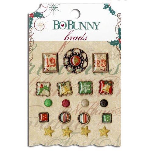 Bo Bunny - Rejoice Collection - Christmas - Brads