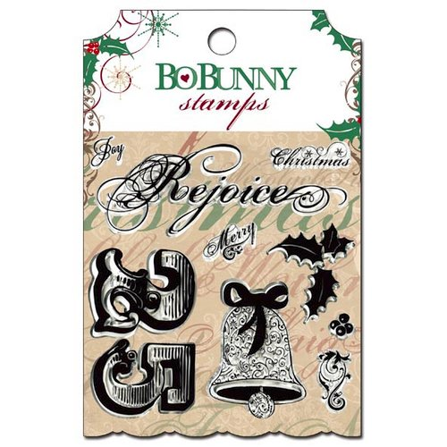 Bo Bunny - Rejoice Collection - Christmas - Clear Acrylic Stamps