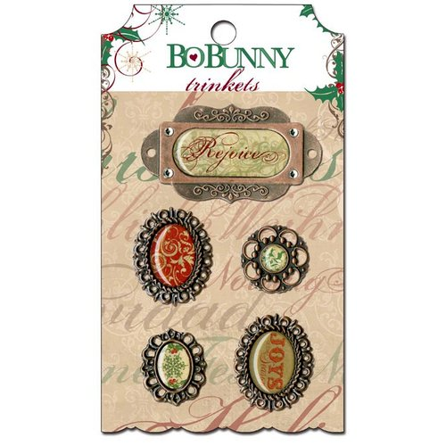 Bo Bunny - Rejoice Collection - Christmas - Metal Embellishments - Trinkets