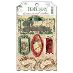 Bo Bunny - Rejoice Collection - Christmas - 3 Dimensional Stickers with Glitter and Jewel Accents