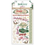 Bo Bunny - Rejoice Collection - Christmas - Rub Ons