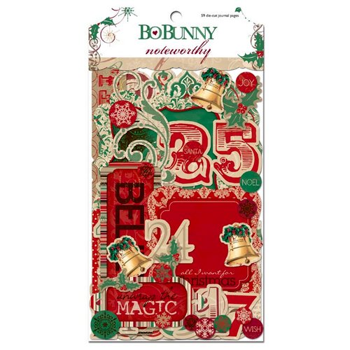 Bo Bunny - Rejoice Collection - Christmas - Note Worthy Journaling Cards