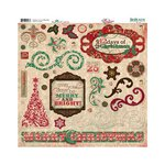 Bo Bunny - Rejoice Collection - Christmas - 12 x 12 Chipboard Stickers