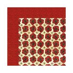Bo Bunny - Serenade Collection - 12 x 12 Double Sided Paper - Poppies