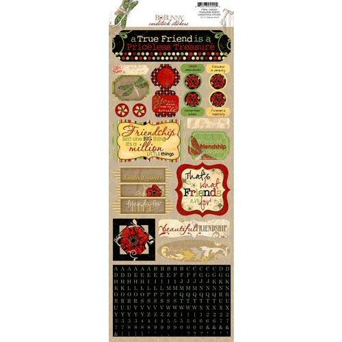 BoBunny - Serenade Collection - Cardstock Stickers - Treasured Friend