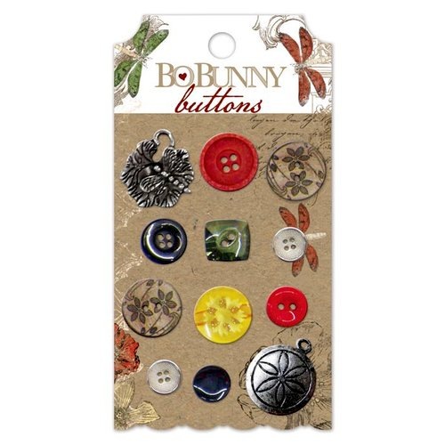 Bo Bunny - Serenade Collection - Buttons