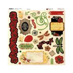 BoBunny - Serenade Collection - 12 x 12 Chipboard Stickers