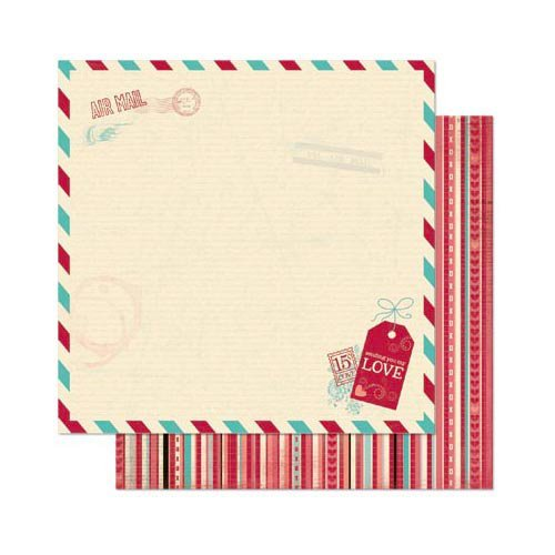 Bo Bunny - Love Letters Collection - 12 x 12 Double Sided Paper - Love Letters