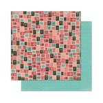 Bo Bunny - Love Letters Collection - 12 x 12 Double Sided Paper - Air Mail