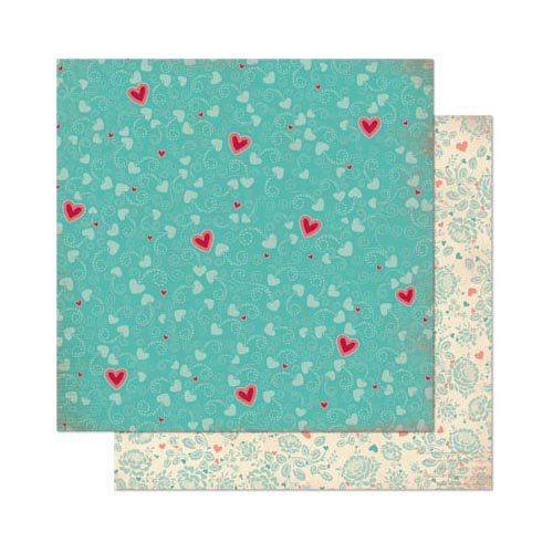 Bo Bunny - Love Letters Collection - 12 x 12 Double Sided Paper - Flutter