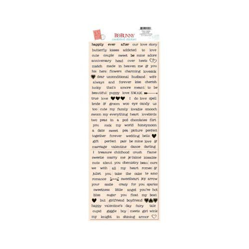 Bo Bunny - Love Letters Collection - Cardstock Stickers - Love Story