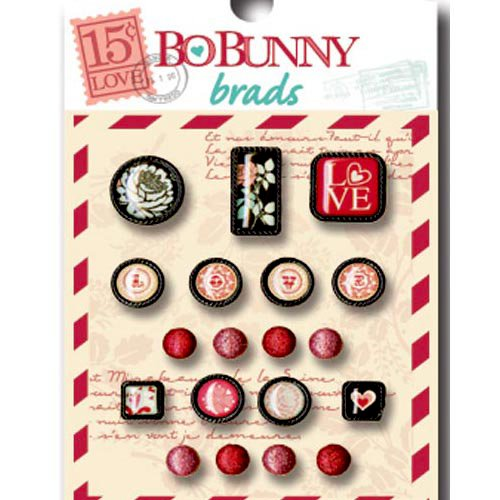 Bo Bunny - Love Letters Collection - Brads