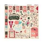 Bo Bunny - Love Letters Collection - 12 x 12 Chipboard Stickers