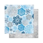 Bo Bunny - Powder Mountain Collection - 12 x 12 Double Sided Paper - Flakes
