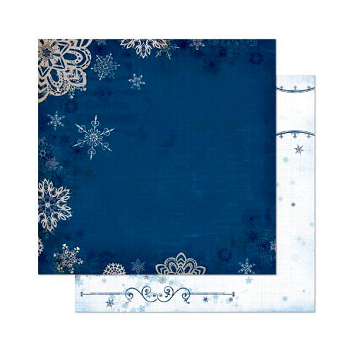 Bo Bunny - Powder Mountain Collection - 12 x 12 Double Sided Paper - Nightfall