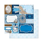 Bo Bunny - Powder Mountain Collection - 12 x 12 Double Sided Paper - Tags