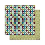 Bo Bunny - Snow Day Collection - 12 x 12 Double Sided Paper - Dot