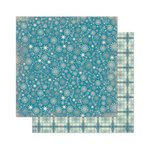 Bo Bunny - Snow Day Collection - 12 x 12 Double Sided Paper - Flurries