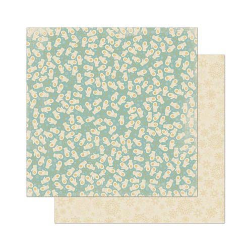 Bo Bunny - Snow Day Collection - 12 x 12 Double Sided Paper - Mittens