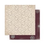 Bo Bunny - Snow Day Collection - 12 x 12 Double Sided Paper - Trees