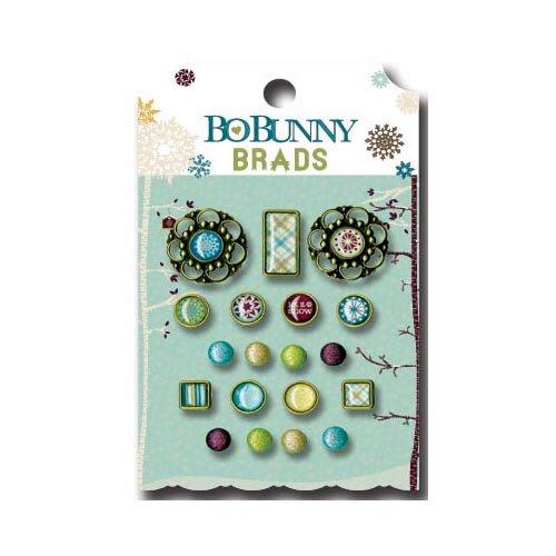 Bo Bunny Press - Snow Day Collection - Brads