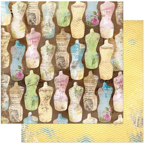 BoBunny - C'est la Vie Collection - 12 x 12 Double Sided Paper - Couturiere