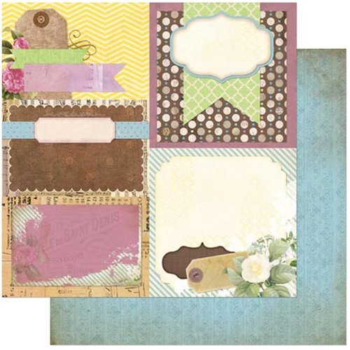 BoBunny - C'est la Vie Collection - 12 x 12 Double Sided Paper - Decoupage