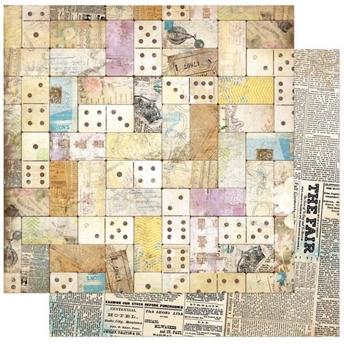 BoBunny - C'est la Vie Collection - 12 x 12 Double Sided Paper - Domino