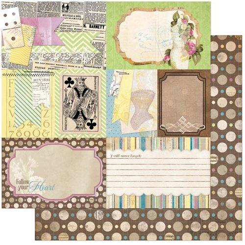 Bo Bunny - C'est la Vie Collection - 12 x 12 Double Sided Paper - Ephemera