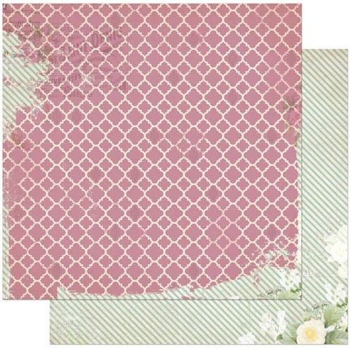 BoBunny - C'est la Vie Collection - 12 x 12 Double Sided Paper - La Vie en Rose