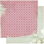 BoBunny - C'est la Vie Collection - 12 x 12 Double Sided Paper - La Vie en Rose